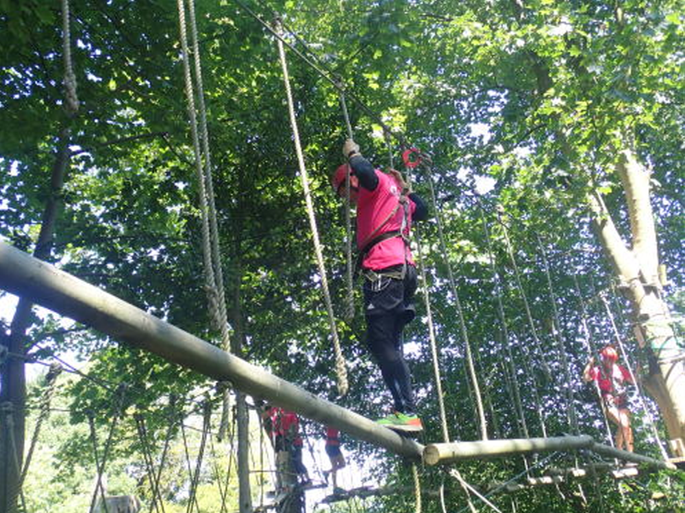 High Ropes Session including Giant Zip Line