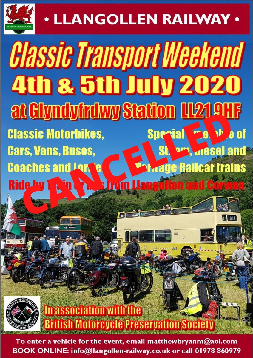 Classic Transport Weekend 4th & 5th July 2020