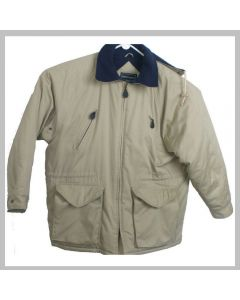 Peter England Beige Heavy Winter Jacket