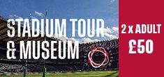 2 Adults - Twickenham Stadium Tour and World Rugby Museum