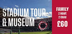 Family (2 adults and 2 children) - Twickenham Stadium Tour and World Rugby Museum