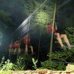 Night Zip Wire - a Step into Darkness