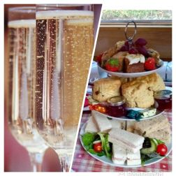 Aqueduct Cruise Afternoon Tea with a Glass of Prosecco