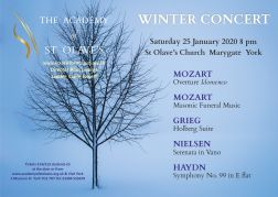 25 January 2020: Winter Concert