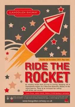 Ride the Rocket  -  1st  November 2020 Departs 18:00