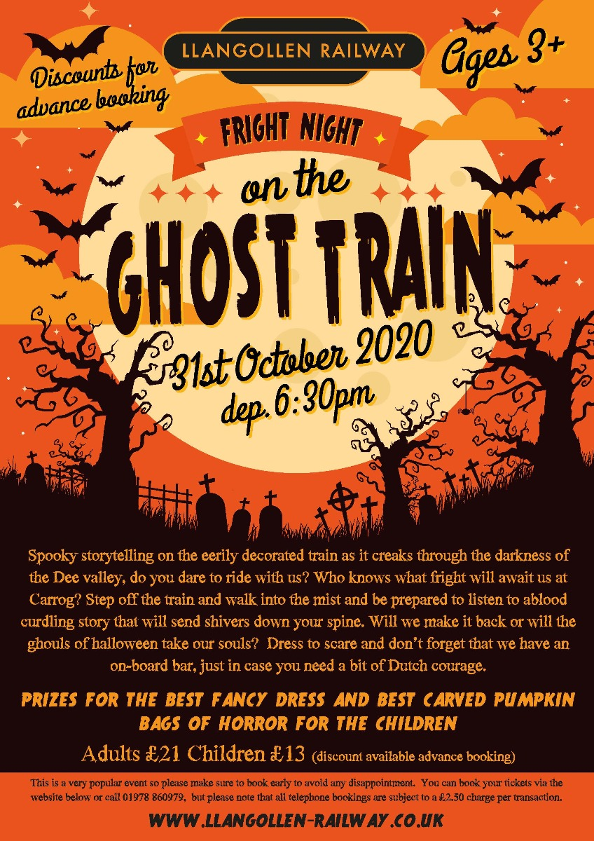 Halloween Train - 31st October 2020 Departs at 18.30