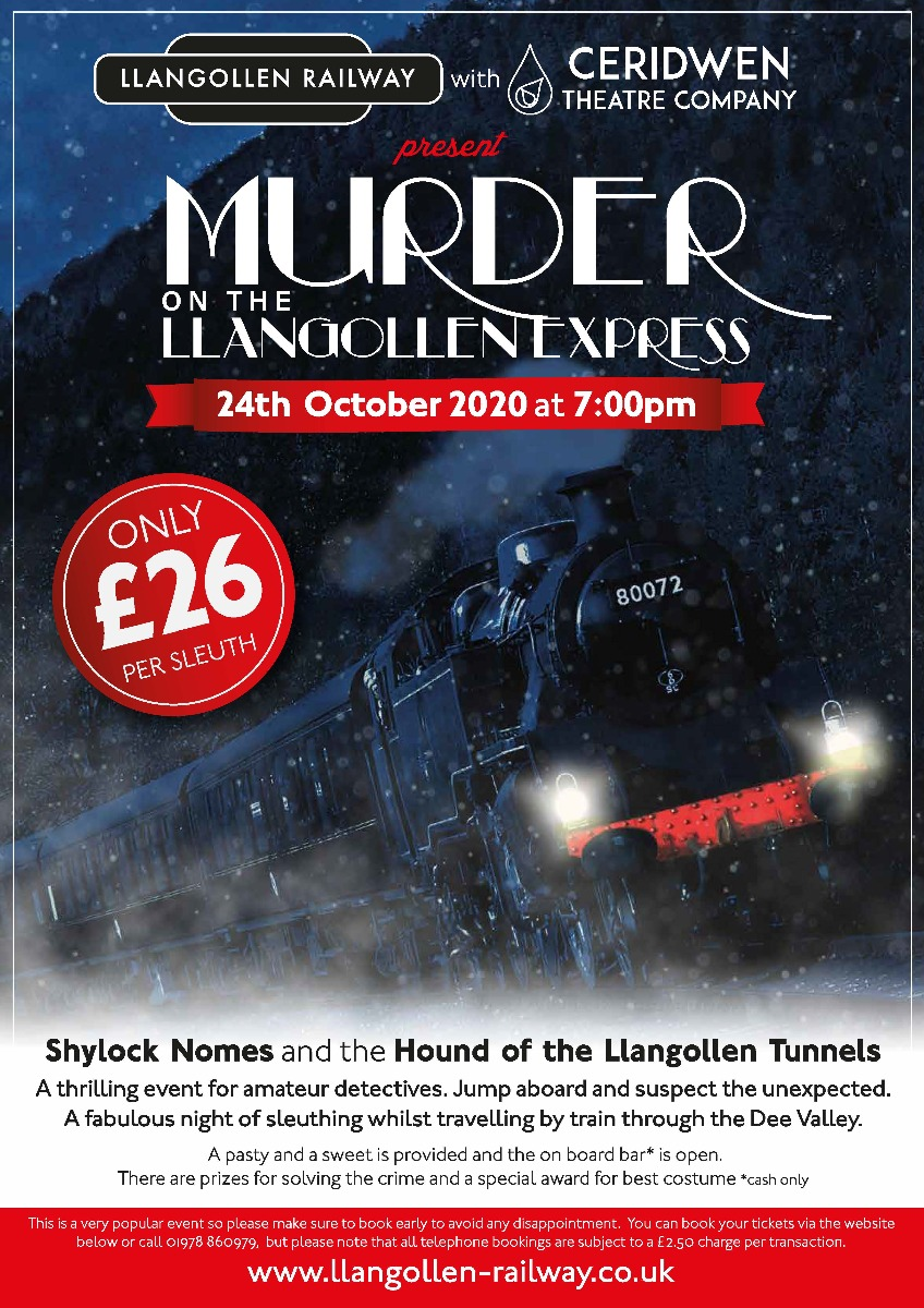 Murder on the Llangollen Express - 24th October 2020