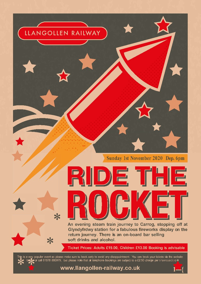 Ride the Rocket  -  1st  November 2020 Departs 18:00
